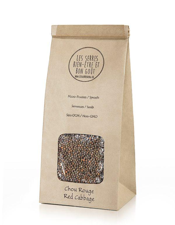 Nos semences de Chou Rouge biologiques et sans OGM, vous pouvez maintenant vous les procurer en plusieurs formats et faire vos pousses à la maison.