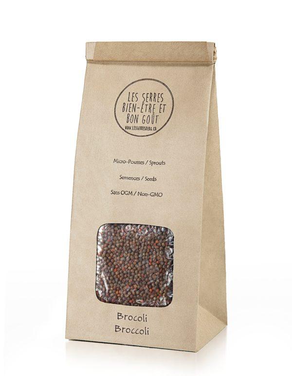 Nos semences de Brocoli biologiques et sans OGM, vous pouvez maintenant vous les procurer en plusieurs formats et faire vos pousses à la maison.