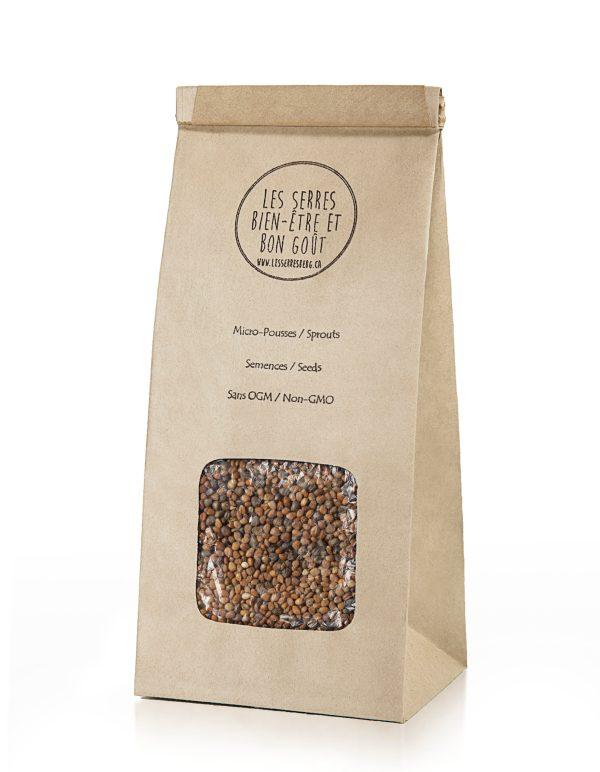 Nos semences de Radis Daïkon biologiques et sans OGM, vous pouvez maintenant vous les procurer en plusieurs formats et faire vos pousses à la maison.