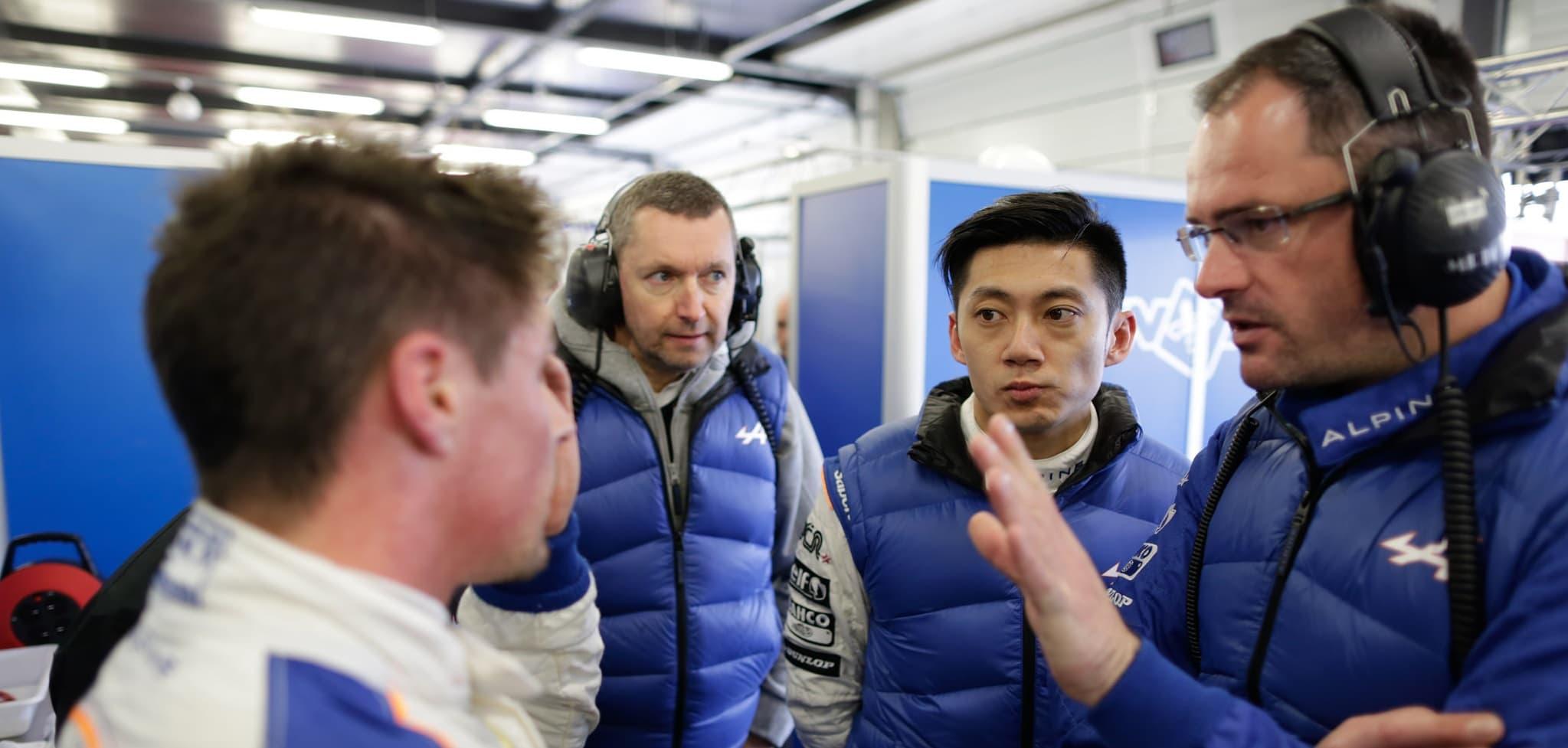 Nelson Panciatici et Ho-Pin Tung en débriefing lors des 6 Heures de Silverstone en WEC