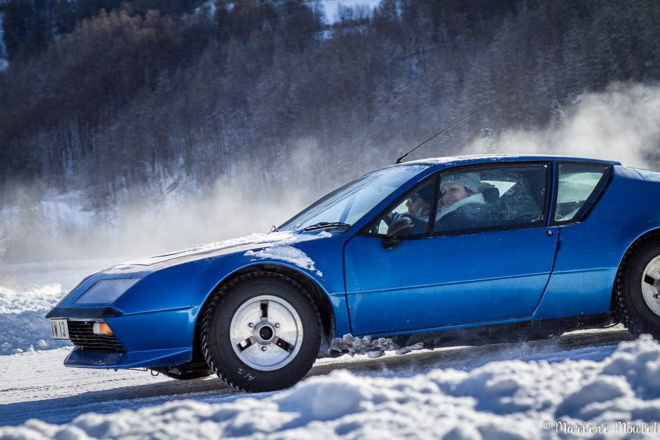 Alpine A110 A310 Orcières piste glace marlene moutet 11 | Des Alpine et 1000 mètres de piste sur glace !