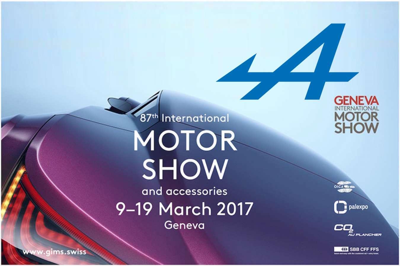 Alpine sera présente au salon automobile de Genève