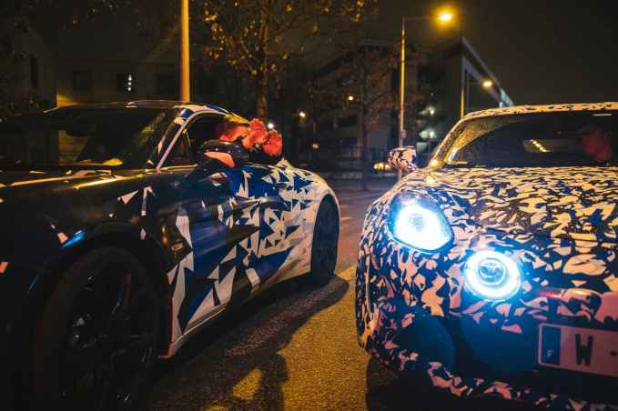 Alpine AS110 A110 Viree nocturne showroom 7 fevrier 2017 Team (5)