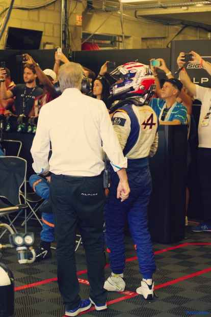 Alpine Planet WEC 24 Heures du Mans 2017 Signatech Alpine Ragues Panciatici Rao Negrao Dumas Menezes coulisses - 61-imp
