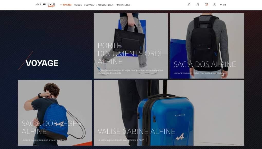 Boutique en ligne Alpine Cars Store Elegance Racing Signatech miniatures sacs bagages vêtements - 8