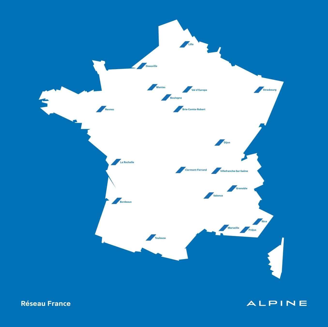 Carte RRG Alpine Point de Vente Showroom France A110 Store   Alpine va ouvrir son 20ème Showroom à Béziers !