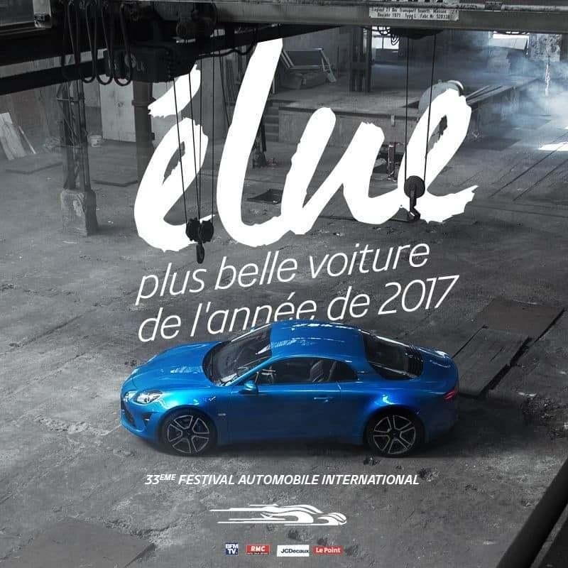 La nouvelle Alpine A110 élue plus belle voiture de l'année 1