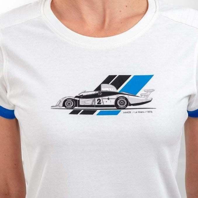 tee shirt femme blanc 4 Alpine Collection 1978 boutique anniversaire 40 ans 24 heures du mans