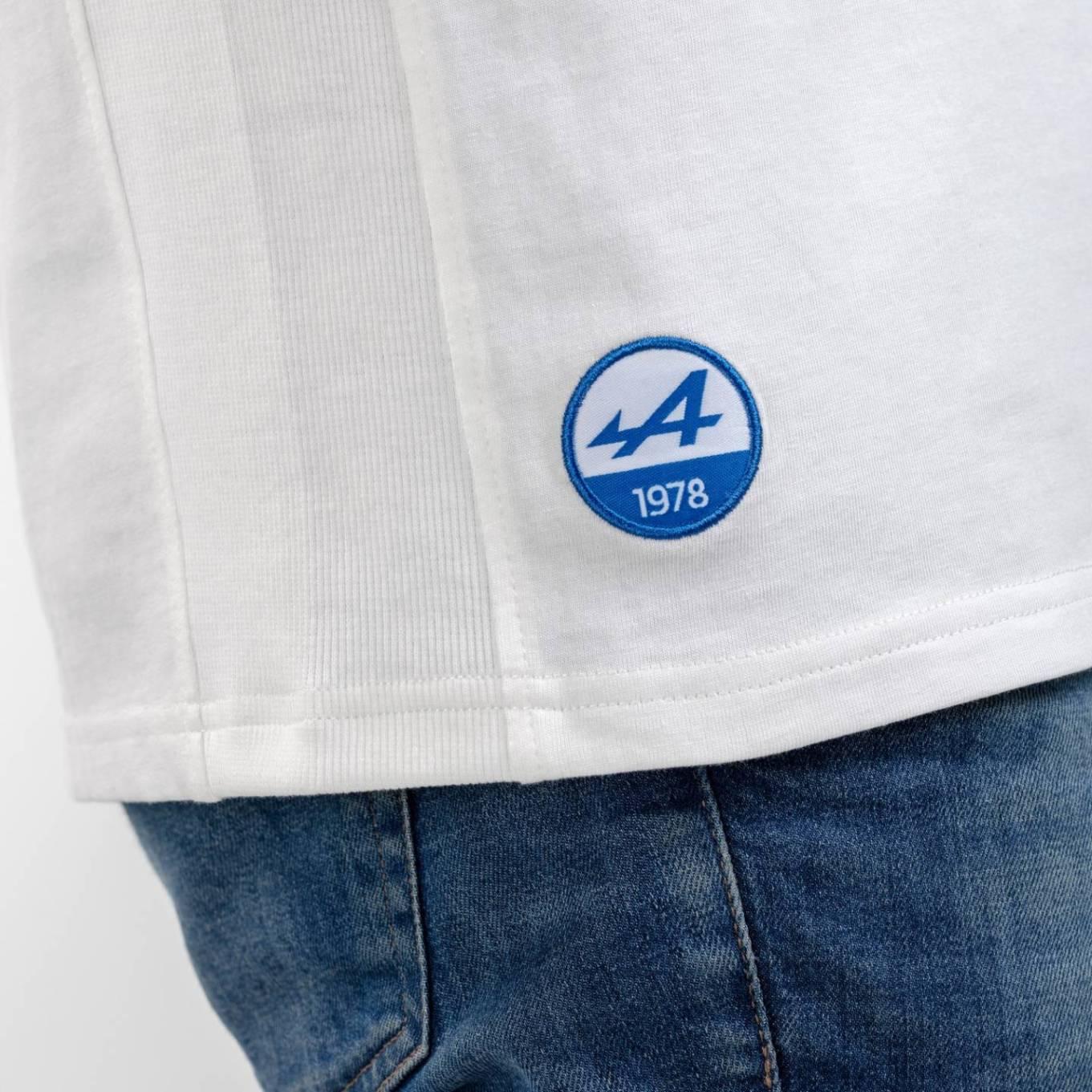 tee shirt homme blanc 2 Alpine Collection 1978 boutique anniversaire 40 ans 24 heures du mans