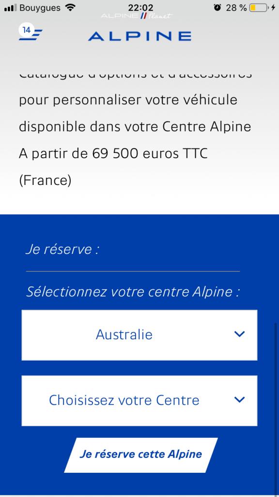 commander alpine A110S 11   Comment précommander l'Alpine A110S ?