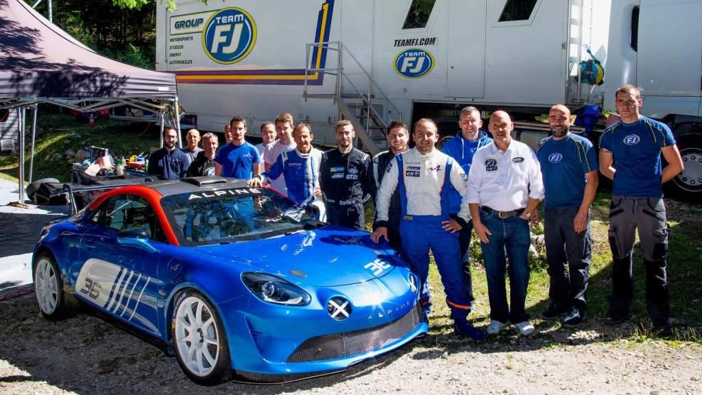 TeamFJ Tests Alpine A110 Rally