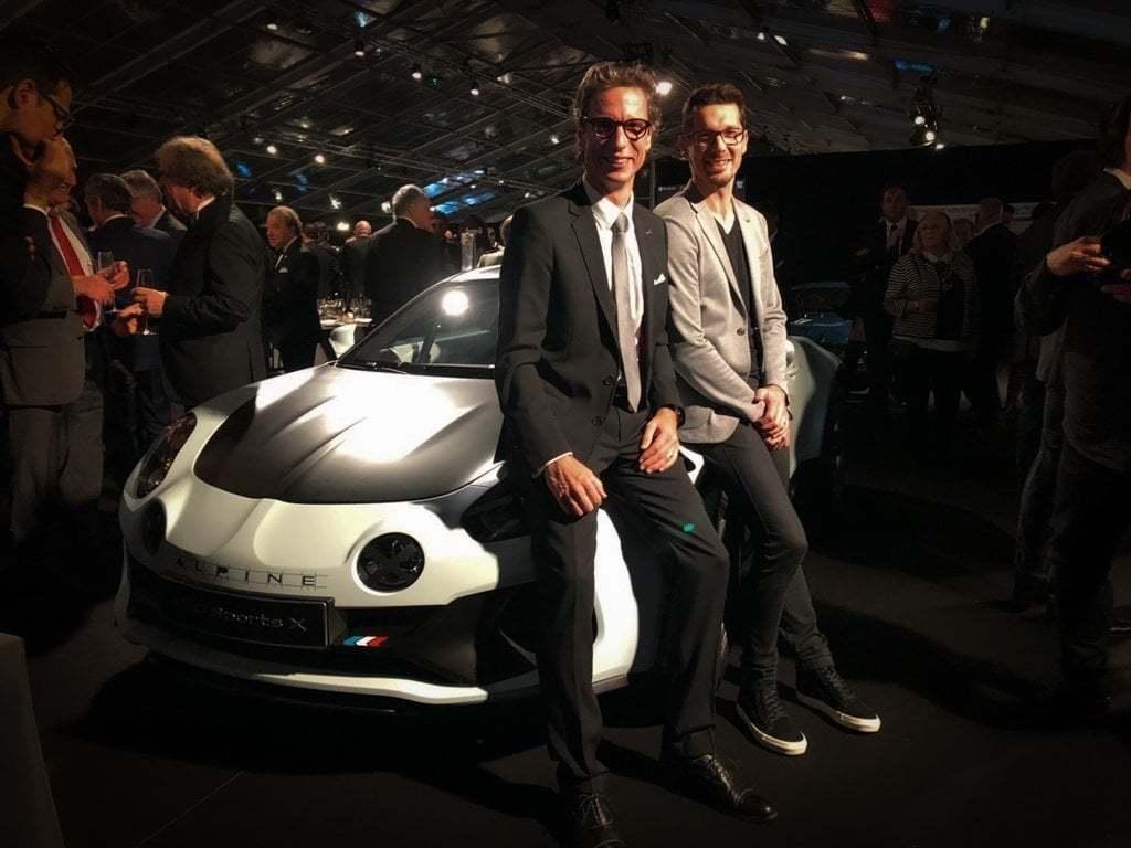 Patrick Marinoff Directeur Général Alpine et @Antony_Villain Directeur Design Alpine