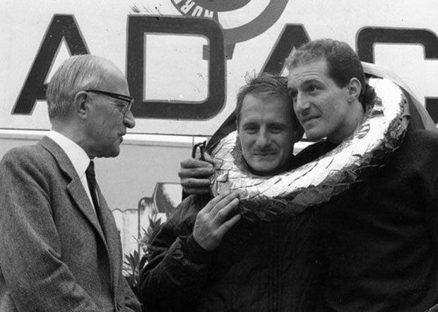 Lucien Bianchi et Mauro Bianchi réunis au Nürburgring en 1965   L'Alpine A310 4 cylindres, en piste pour les seventies