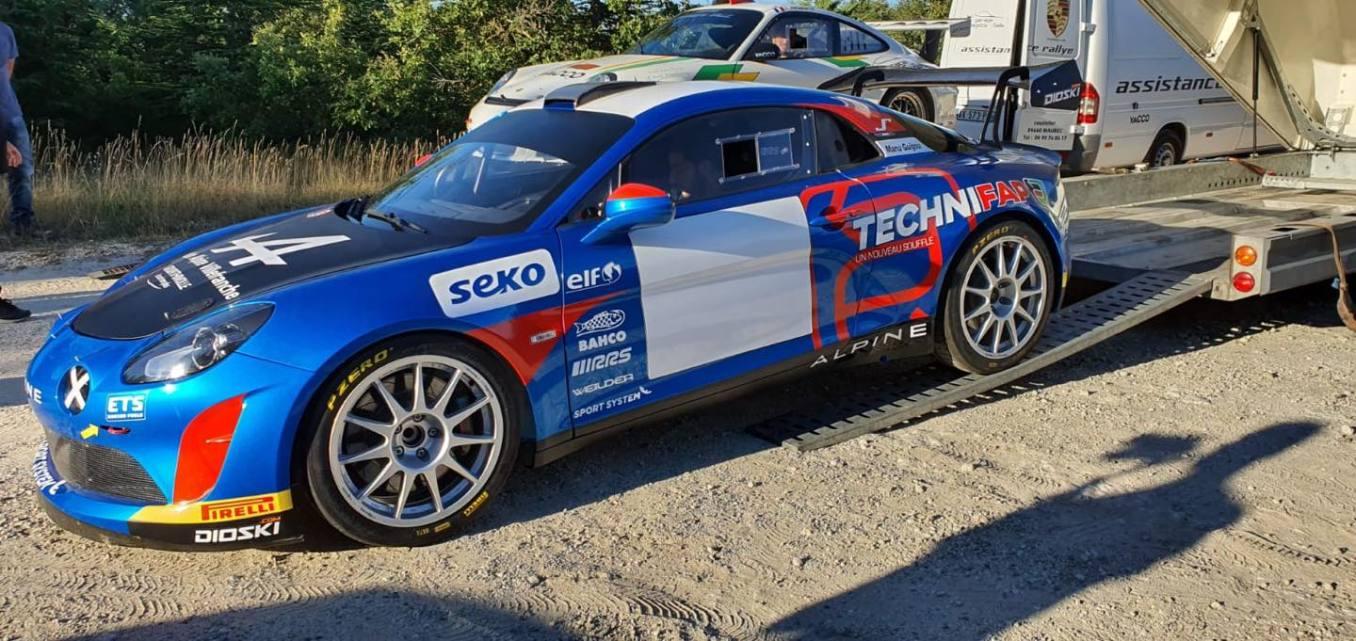Emmanuel Guigou Alpine A110 Rally RGT 9   Manu Guigou sacré Champion de France en Alpine A110 RGT