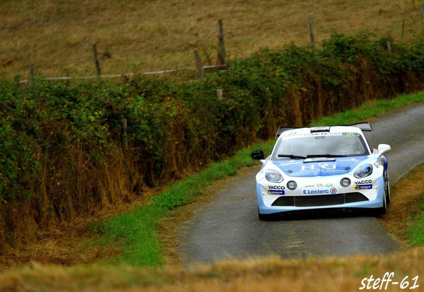 Cedric Robert Matthieu Duval Alpine A110 Rally Rallye Coeur de France 5   Alpine A110 Rally : Cédric Robert hausse le rythme lors du Rallye Cœur de France 2020