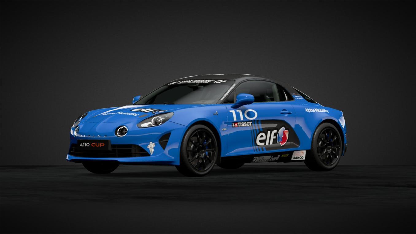 Alpine A110 Elf Europa Cup 2020 n°110 Thomas LAURENT et Andre NEGRAO GT Sport   Gran Turismo Sport : Rémi Adam, la référence des livrées Alpine A110 Cup
