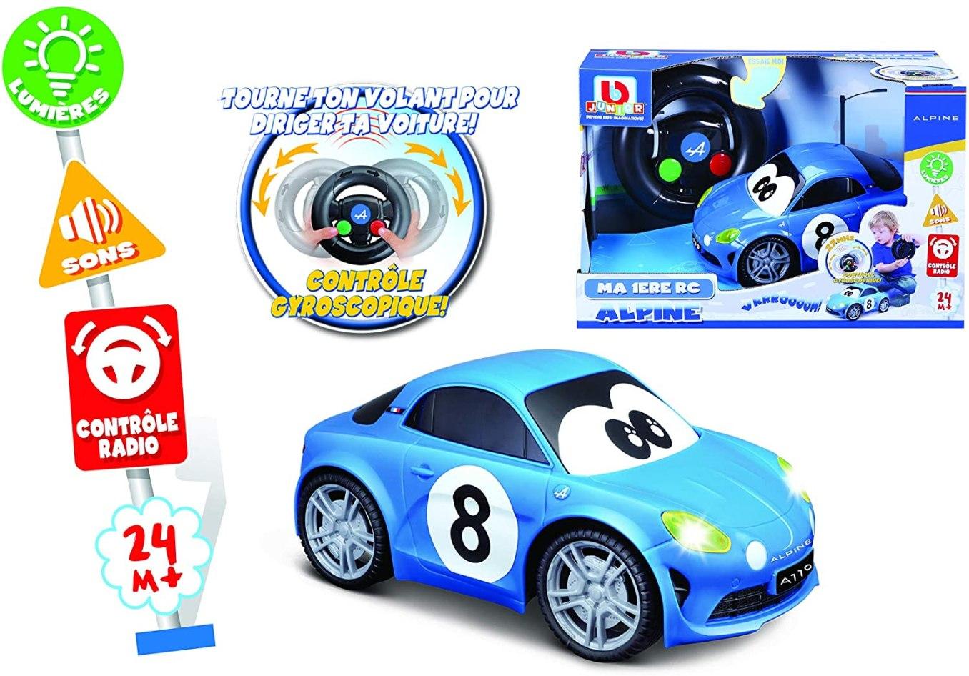 Bburago Maisto France BBJUNIOR Renault Ma premiere Alpine A110 a Volant gyroscopique Voiture 3   30 idées de cadeaux de Noël pour les passionnés d'Alpine