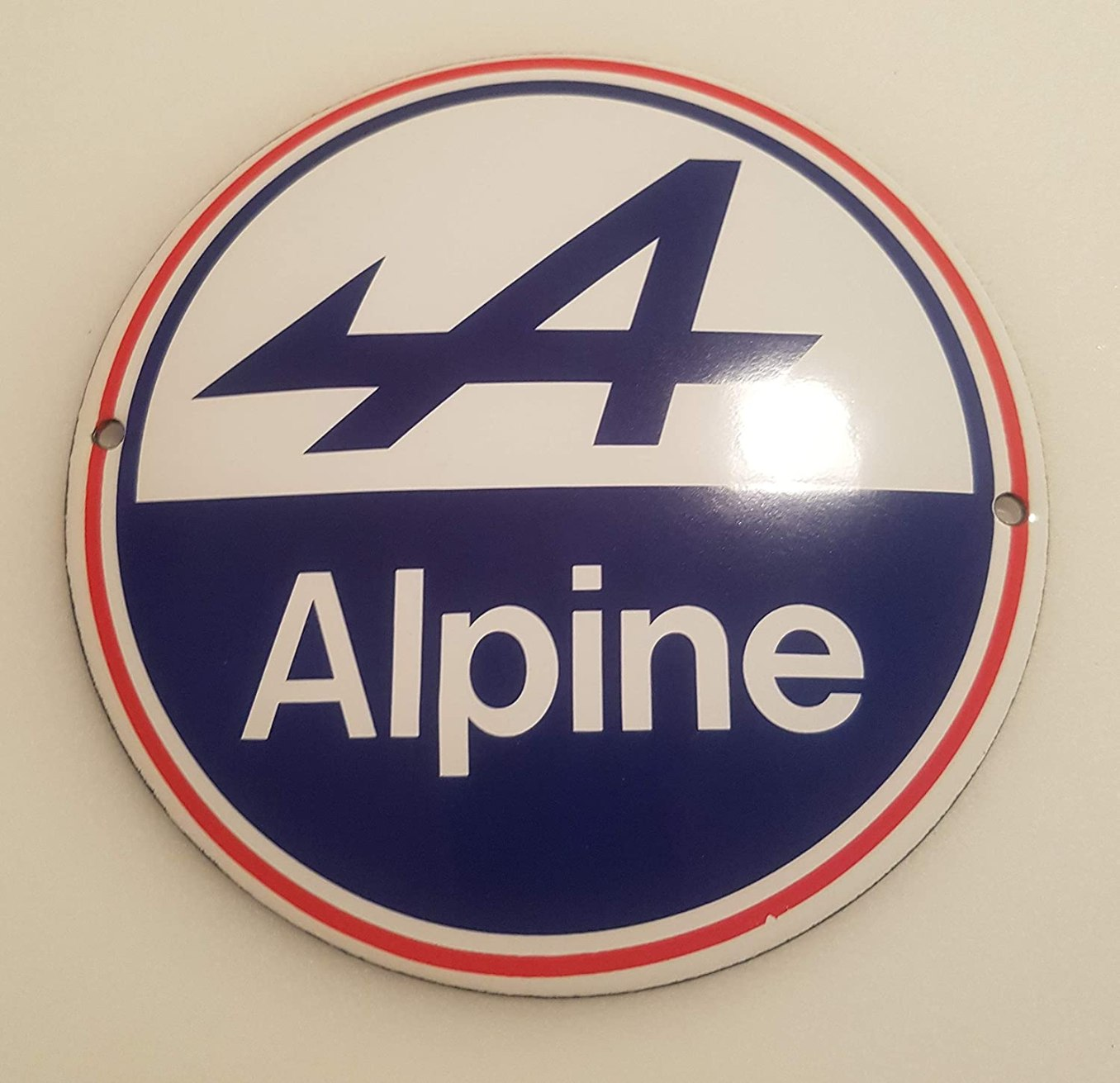 EMAILLE Panneau de signalisation O 12 cm Alpine 2 Panneau de Porte en Forme de Panneau de signalisation   30 idées de cadeaux de Noël pour les passionnés d'Alpine