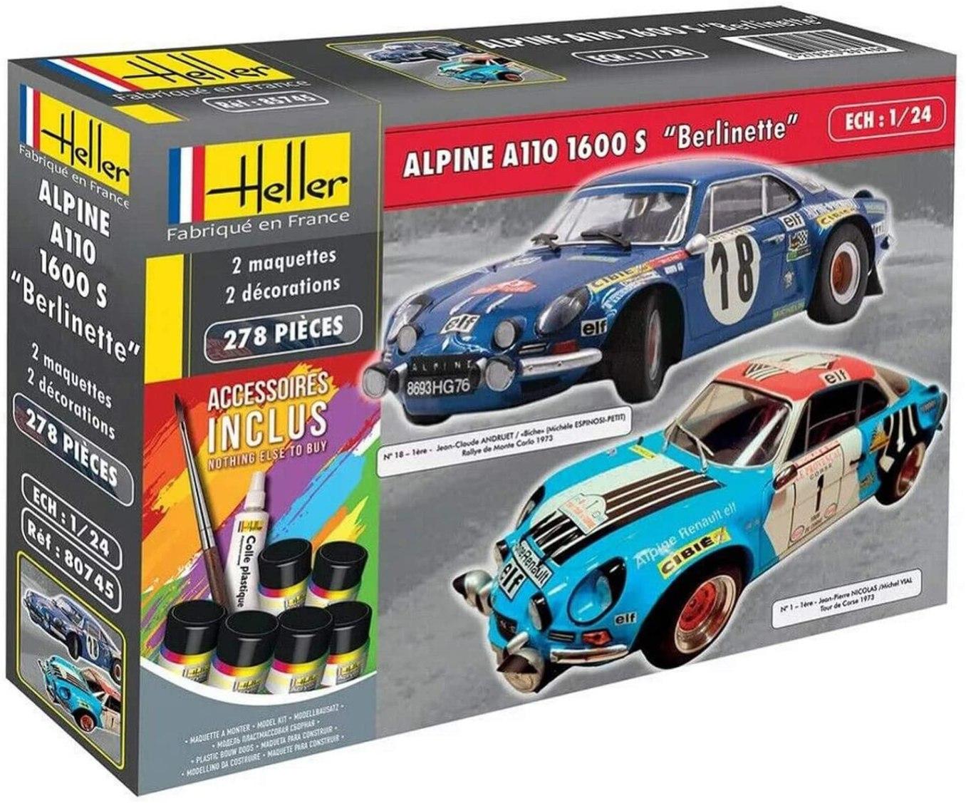Heller Coffret 2 maquettes Voiture Alpine A110 1600S   30 idées de cadeaux de Noël pour les passionnés d'Alpine