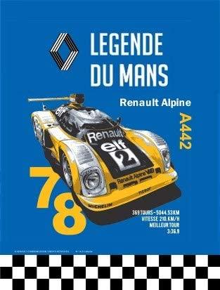 Renault Alpine Legende du Mans 20x15cm modele en Relief Alpine A442   30 idées de cadeaux de Noël pour les passionnés d'Alpine