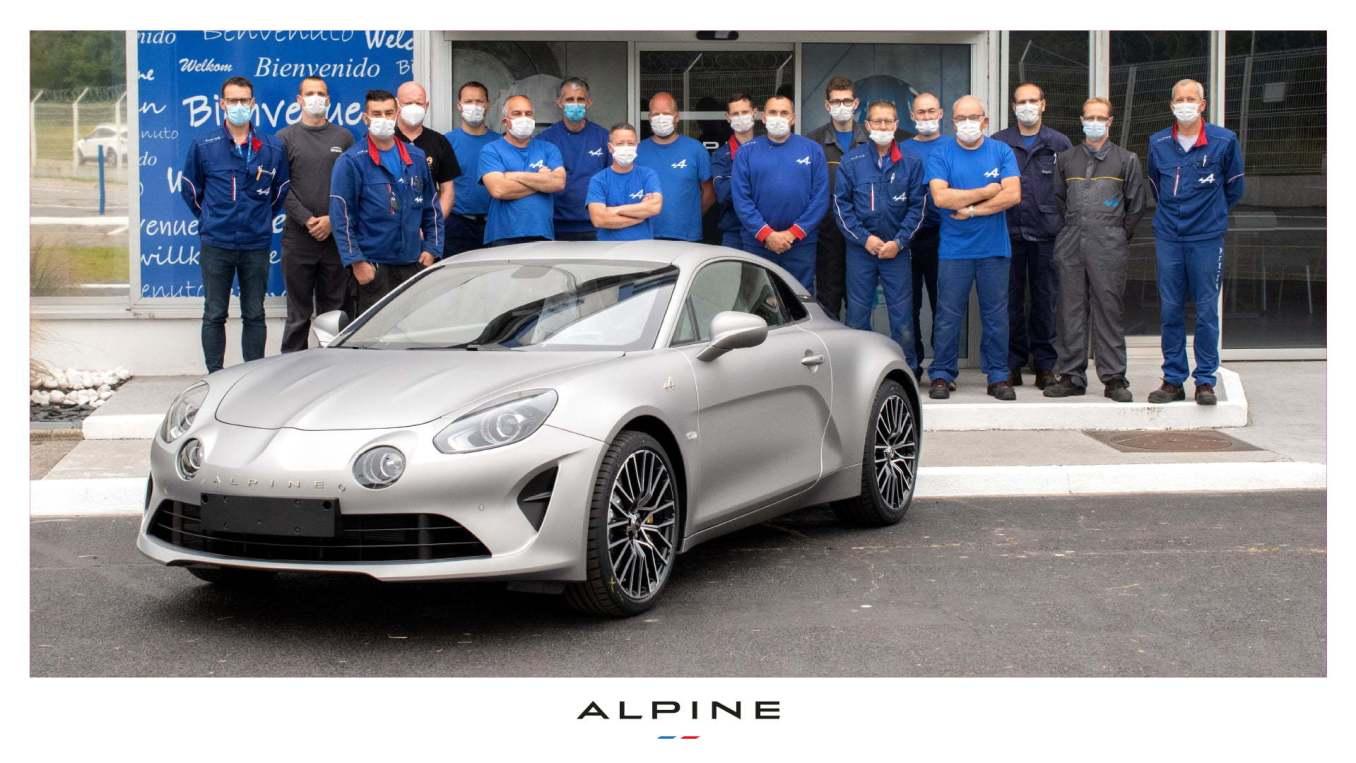 Alpine A110 10000 exemplaire Dieppe | La 10.000ème Alpine A110 est sortie de l'usine de Dieppe