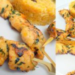 Mini brochettes de poulet, curry et fines herbes
