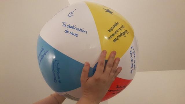 Brise glace à l'aide d'un ballon