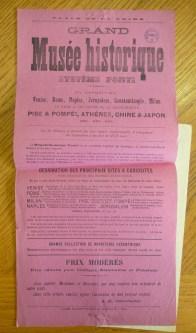 Affichette de publicité pour une attraction foraine : le Musée historique, fin du XIXe siècle, cliché Grégory Delauré. Archives de Rennes, I36.