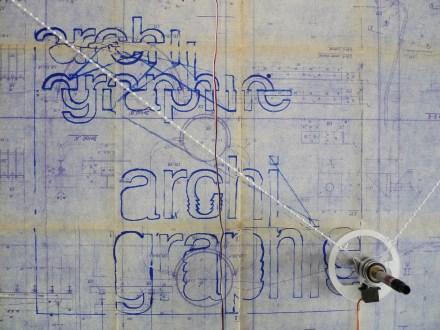 Tentavive graphique sur plan diazographe. Cliché Macula Nigra, 28 août 2016.
