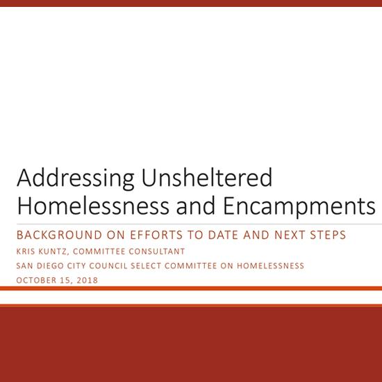 Housing & Community Development Solutions - Addressing Unsheltered Homelessness and Encampments