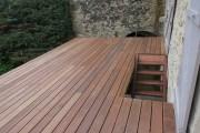 Terrasse en frêne thermo chaufé
