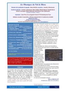Chroniques N° 88 Edito