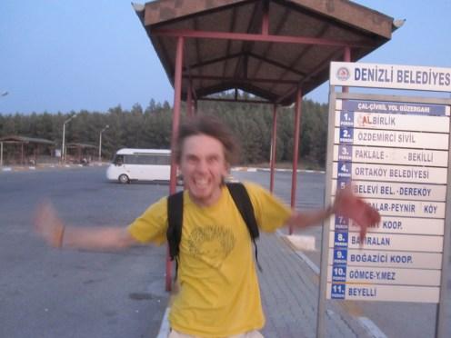 Thierry, à la gare de Denizli