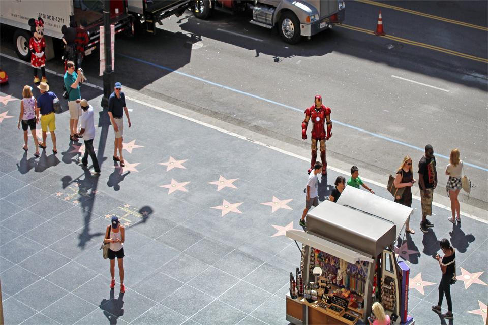 Que faire à los angeles - Iron Man sur Hollywood Boulevard