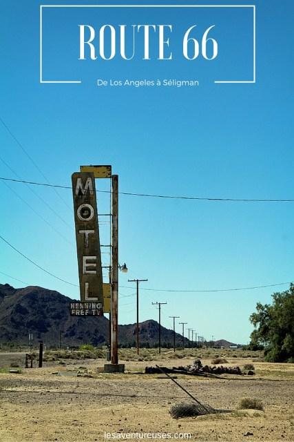 Route 66 - De Los Angeles à Seligman route perspective