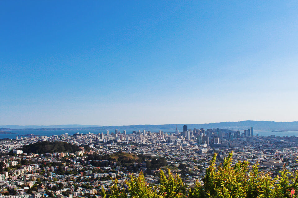 Visiter San Francisco Collines de Twin Peaks
