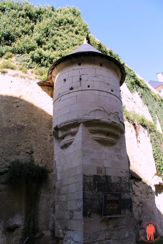 Château de Brézé échauguette Défensive extérieur