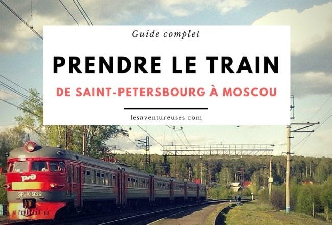Prendre le train en Russie - De saint Petersbourg à Moscou - Postcover