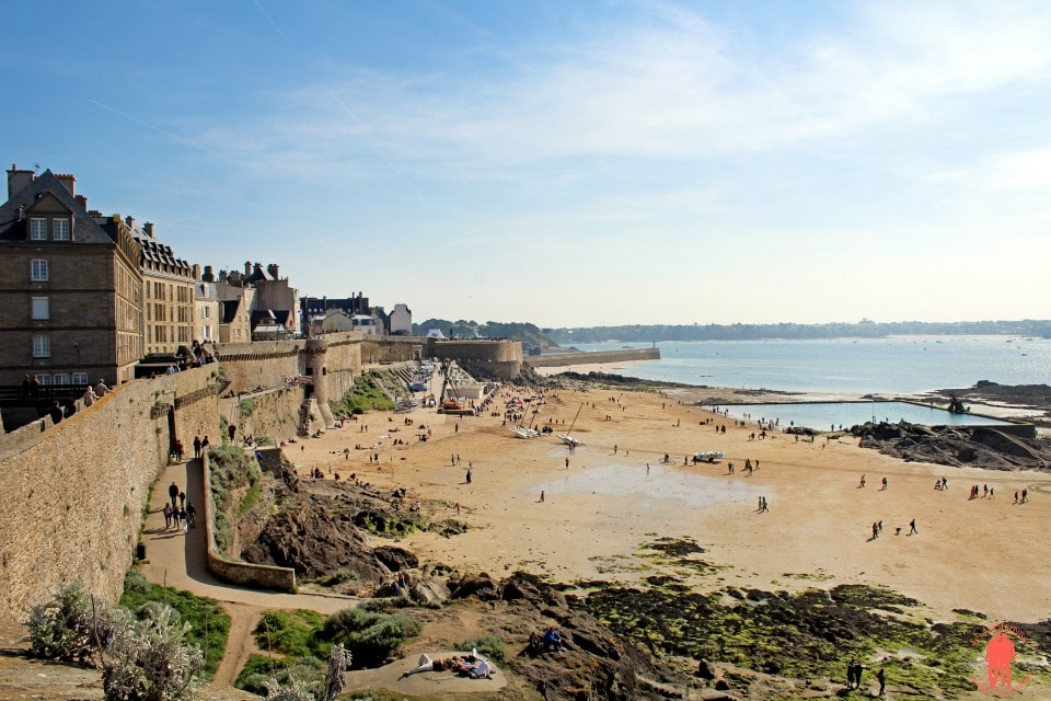 Plage du Bon Secours - Visiter Saint-Malo