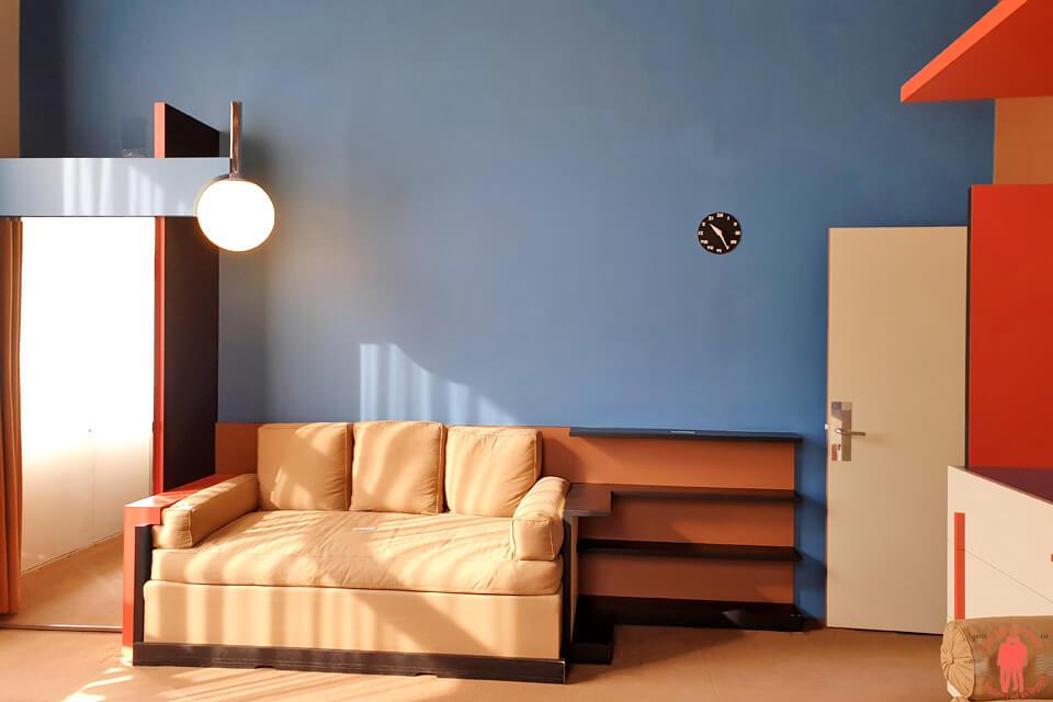 Chambre d'enfant villa Cavrois à Croix entre Roubaix et Tourcoing