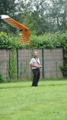 David et son aile volante en pleine démonstration;