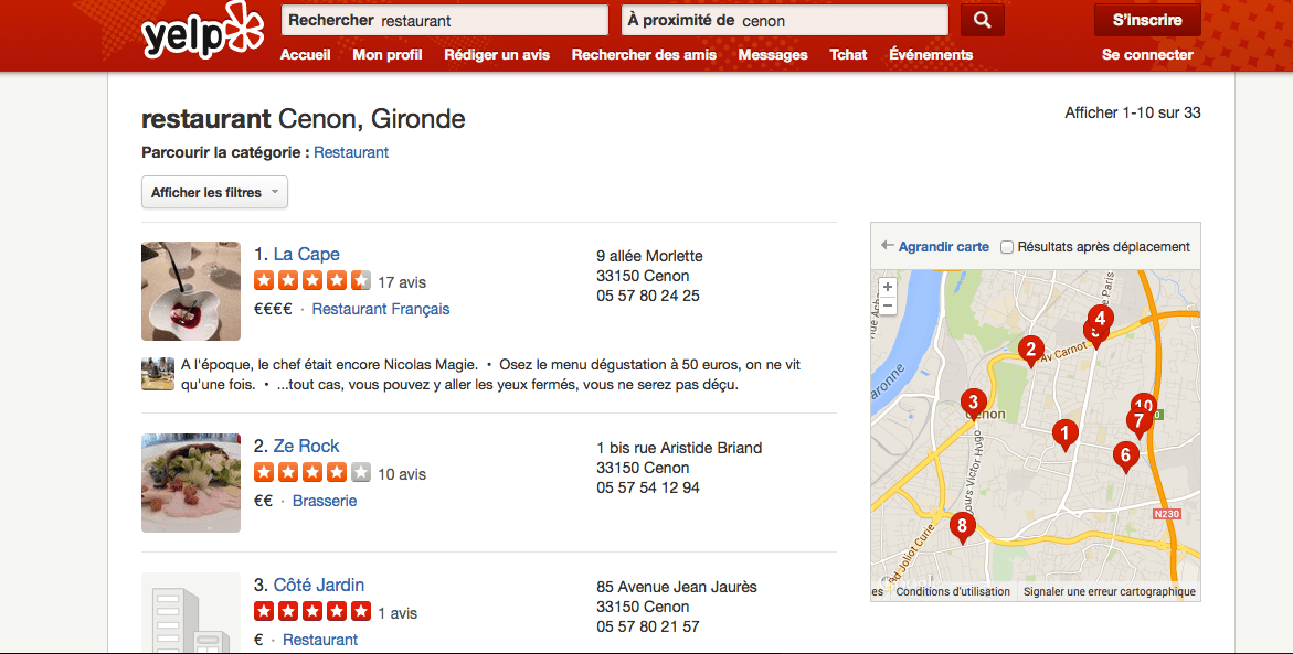 Yelp Bordeaux