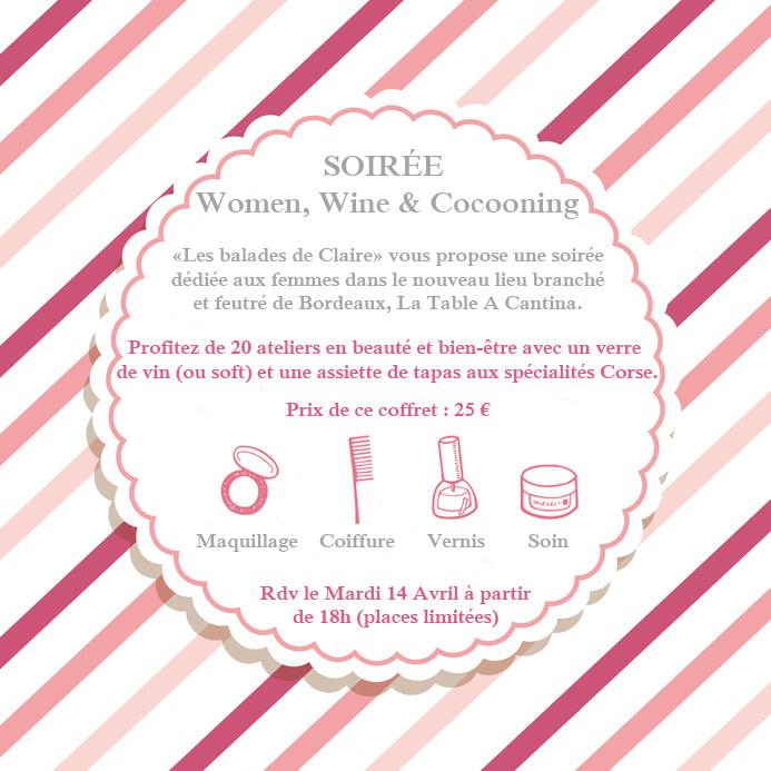 Evènement Women, Wine & Cocooning, Bordeaux