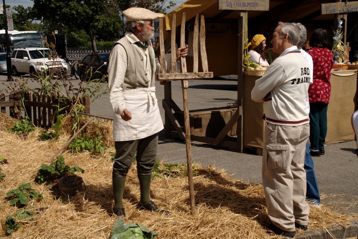 Le paysan rappelle le rôle fondamental qu'il a joué dans l'évolution de la Nouvelle-France