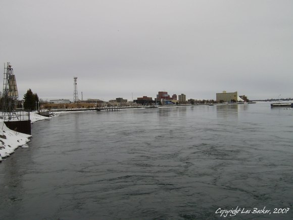 """Sault Ste. Marie, ON Waterfront & Boardwalk""© Les Becker, 2007Taken February 26, 2007 with Centrios ""Crappy-Cam"""