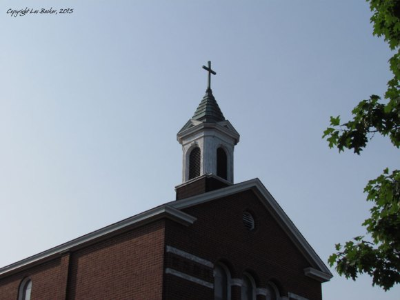 Blessed Sacrament Church SteepleCathcart Street, Sault Ste. Marie, ONTaken July 8, 2015with Canon PowerShot SX30 IS© Les Becker, 2015