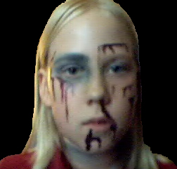 With Makeup...For Hallowe'en>