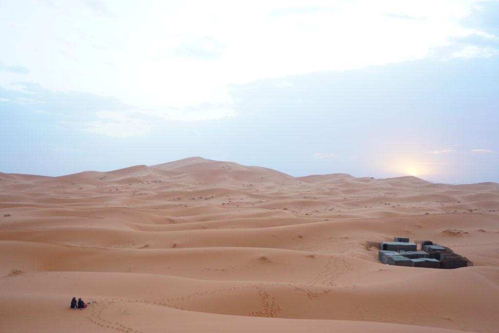 サハラ砂漠 サンセット
