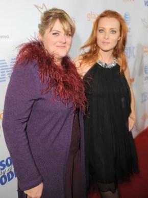 Megan Cavanagh y Angela Featherstone GLAAD 2008
