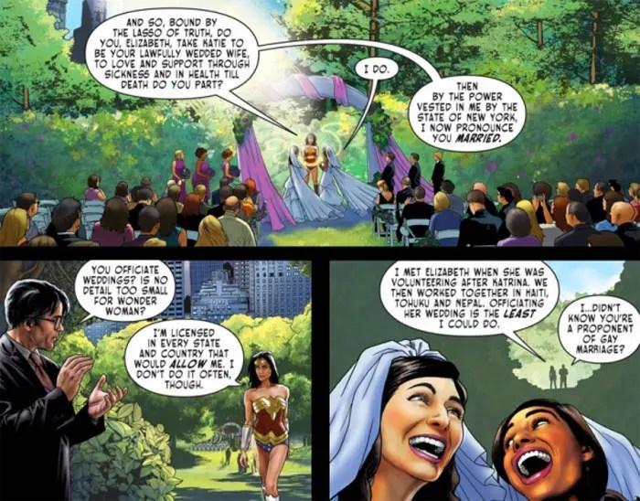 Wonder Woman matrimonio homosexual